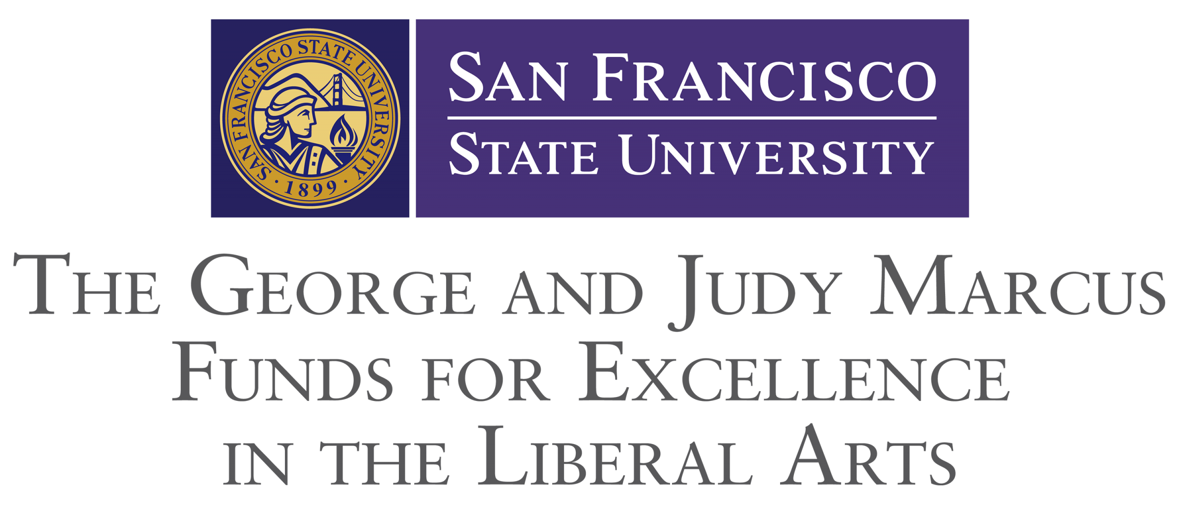 Logo: The George and Judy Marcus Fund for Excellence in the Liberal Arts
