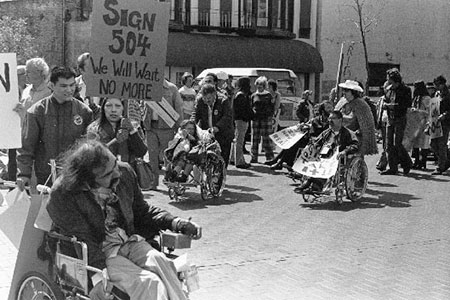Photo: 1970's protest by and for people with disabilities